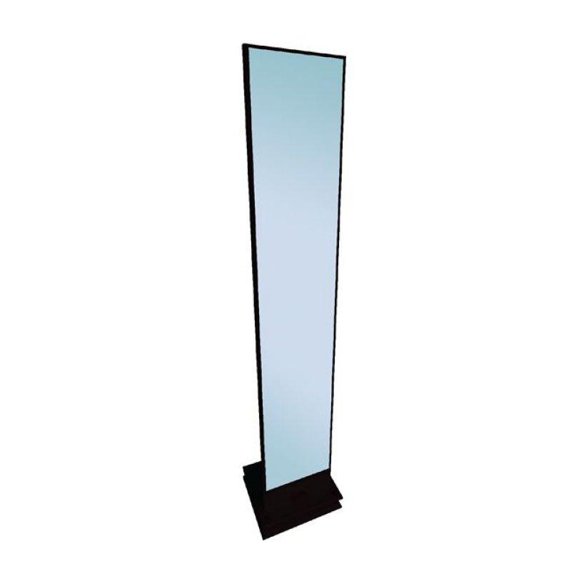 """Καθρέπτης δαπέδου """"KELVIN"""" σε χρώμα μαύρο 35x35x173"""