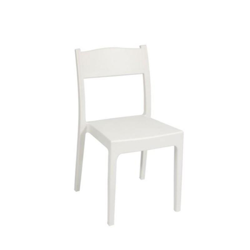 """Καρέκλα """"VESTA"""" από πολυπροπυλένιο σε λευκό χρώμα 46x52x82"""