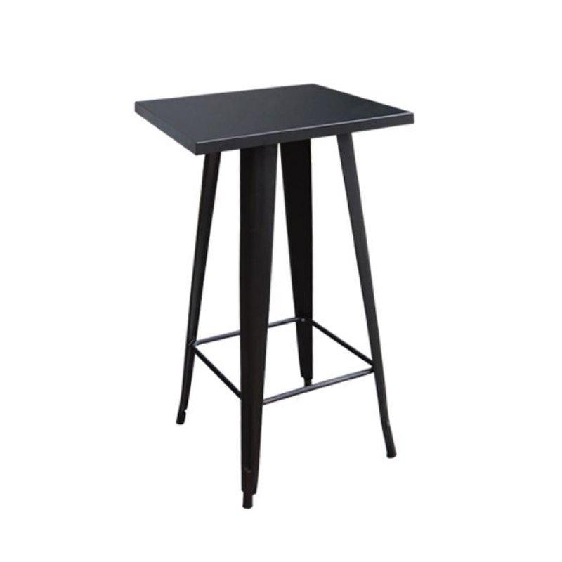 """Τραπέζι μπαρ """"RELIX"""" μεταλλικό σε μαύρο χρώμα 60x60x101"""