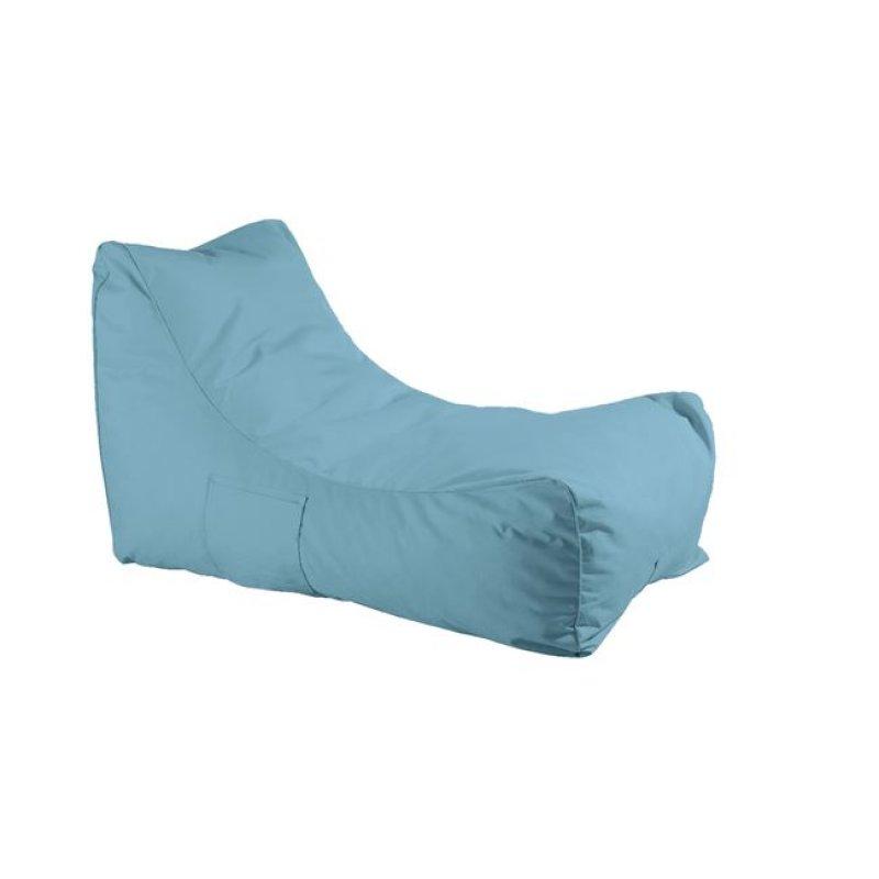 """Ανάκλιντρο πουφ """"LAZY"""" υφασμάτινο σε γαλάζιο χρώμα 70x106x67"""