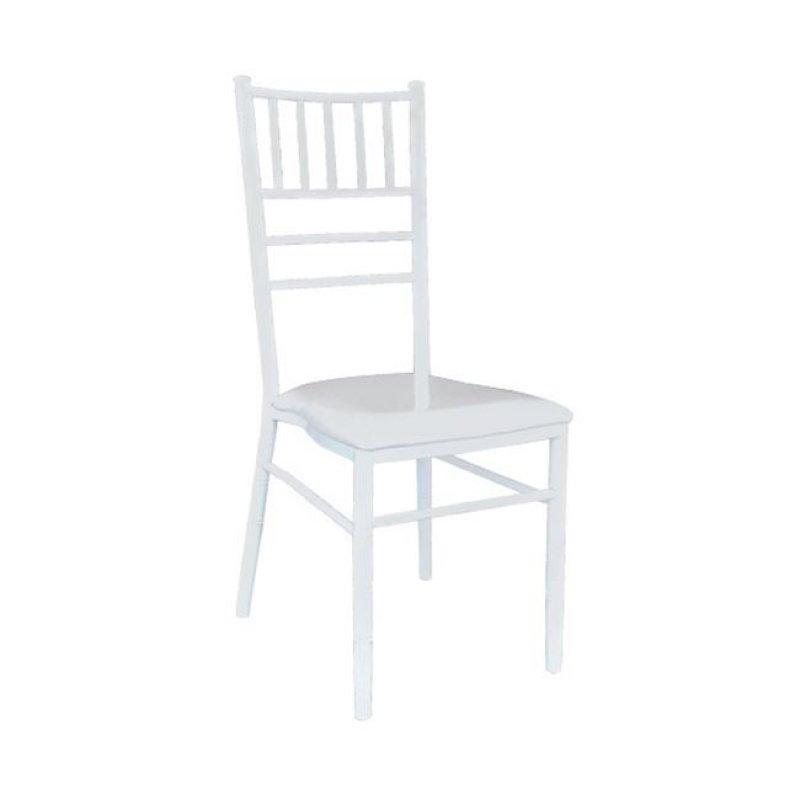 """Καρέκλα """"ILONA"""" μεταλλική-pvc σε λευκό χρώμα 42x43x92"""