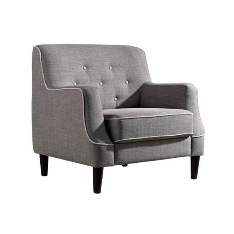 """Πολυθρόνα """"ELEGANCE"""" υφασμάτινη σε χρώμα ανοιχτό καφέ 90x88x85"""