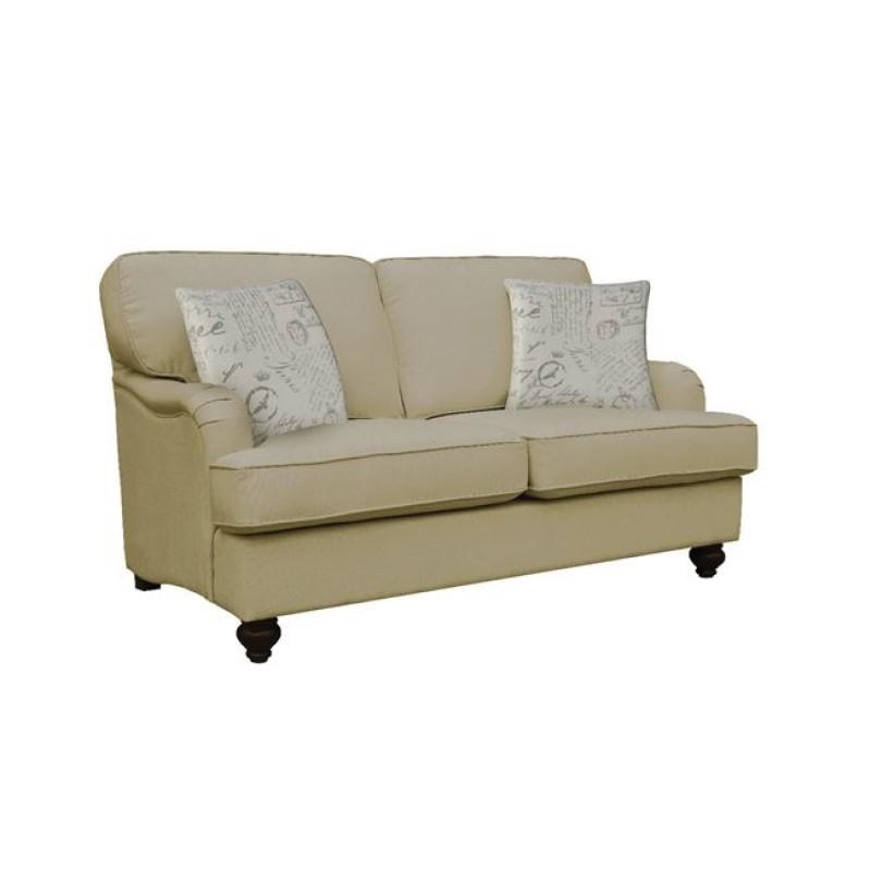 """Καναπές """"SELENA"""" διθέσιος υφασμάτινο σε μπεζ χρώμα 158x92x90"""