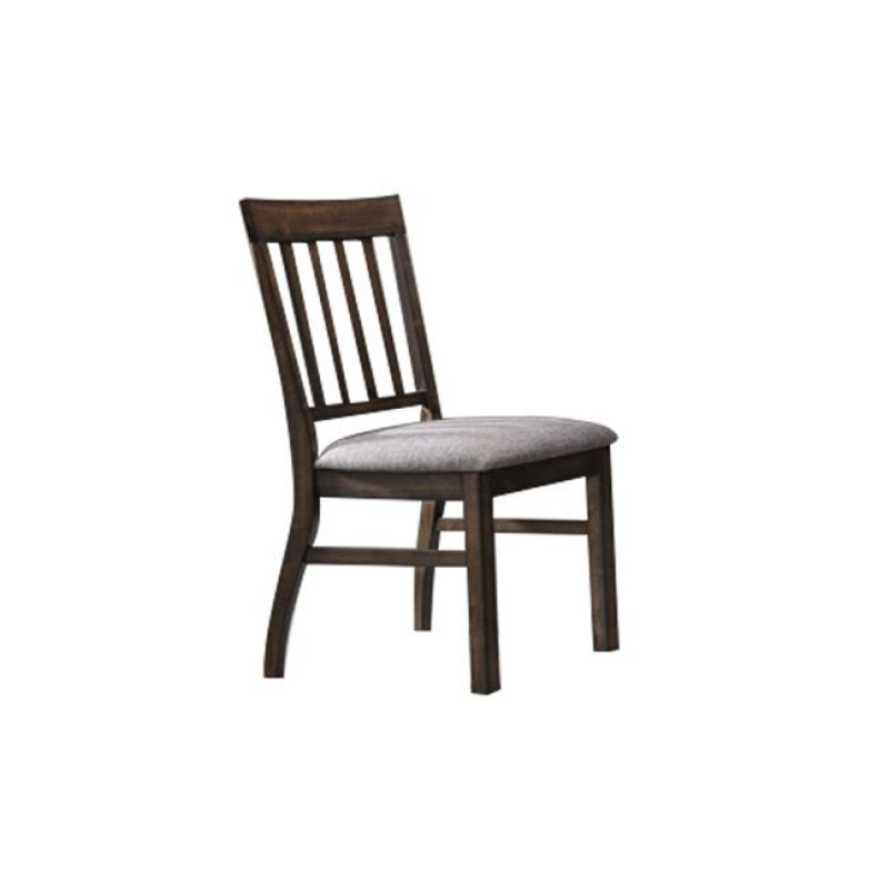 """Καρέκλα """"SANTORY"""" ξύλινη-υφασμάτινη σε χρώμα καρυδί-γκρι 47x62x97"""