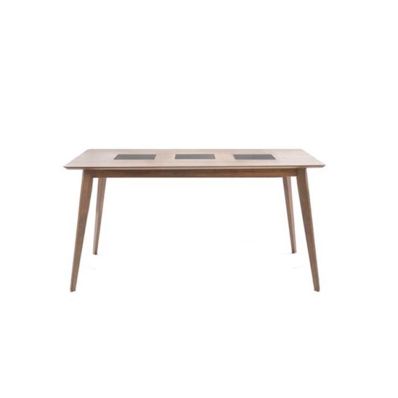 """Τραπέζι """"ROMANO"""" σε καρυδί χρώμα 150x90x75"""