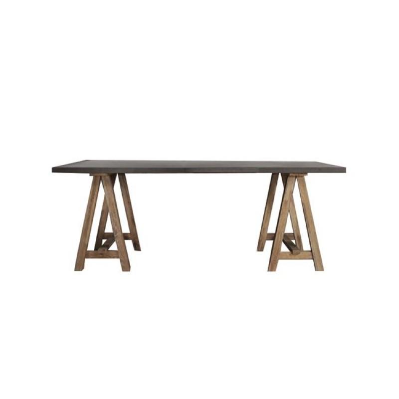 """Τραπέζι """"PRINCE"""" χρώματος antique oak-decape 200x100x75"""