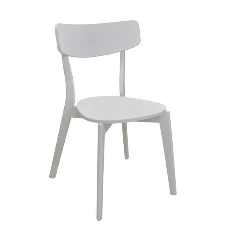 """Καρέκλα """"MEMORY"""" ξύλινη σε λευκό χρώμα 51x50x80"""