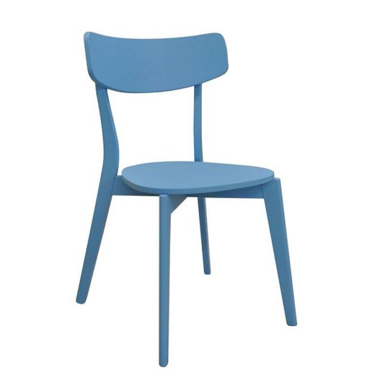 """Καρέκλα """"MEMORY"""" ξύλινη σε μπλε χρώμα 51x50x80"""
