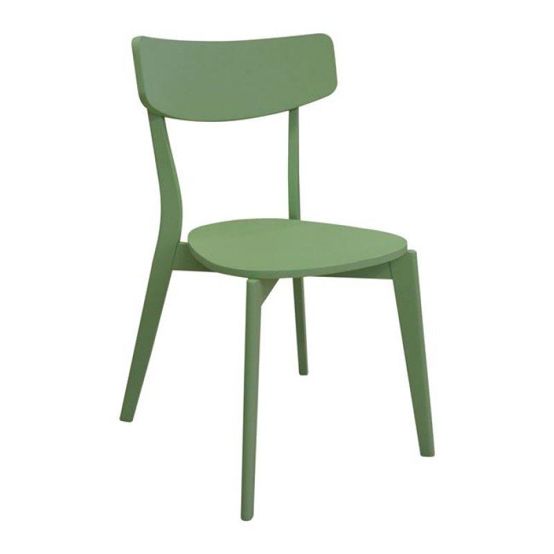"""Καρέκλα """"MEMORY"""" ξύλινη σε πράσινο χρώμα 51x50x80"""