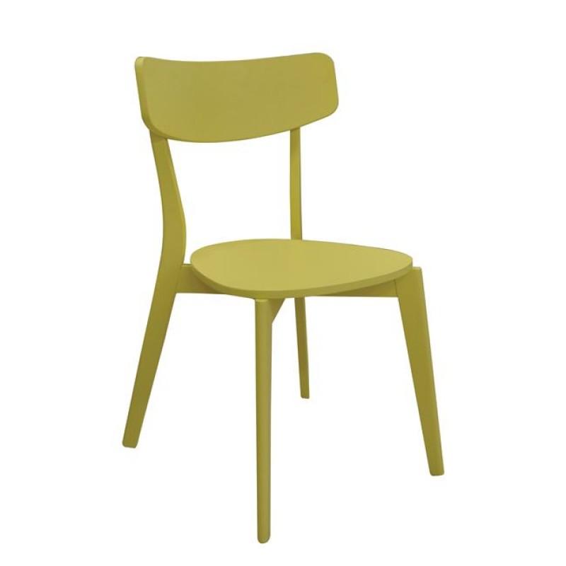 """Καρέκλα """"MEMORY"""" ξύλινη σε κίτρινη χρώμα 51x50x80"""