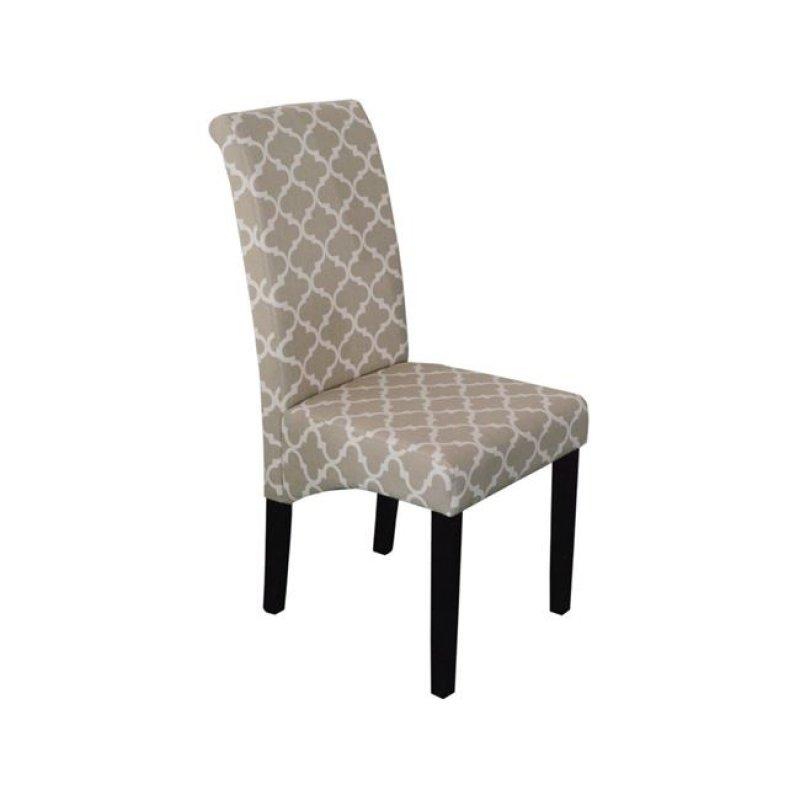 """Καρέκλα """"MALEVA-H"""" υφασμάτινη σε deco μπεζ χρώμα 46x61x100"""