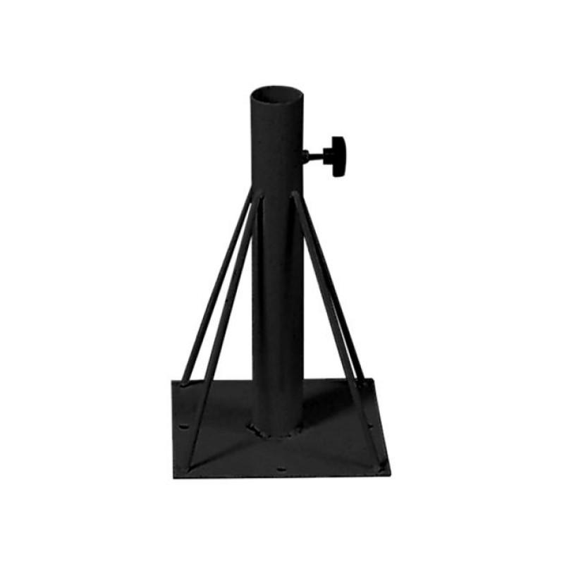 Βάση ομπρέλας μεταλλική εδάφους σε μαύρο χρώμα 15x15