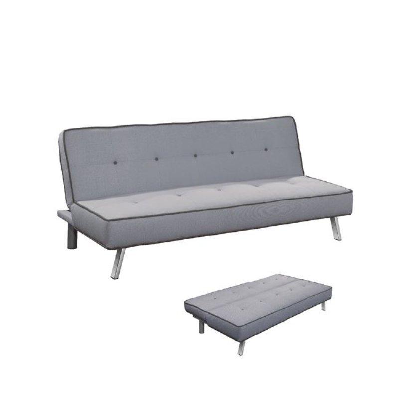 """Καναπές-κρεβάτι """"CORD"""" τριθέσιος από ύφασμα σε γκρι χρώμα 180x83x79"""
