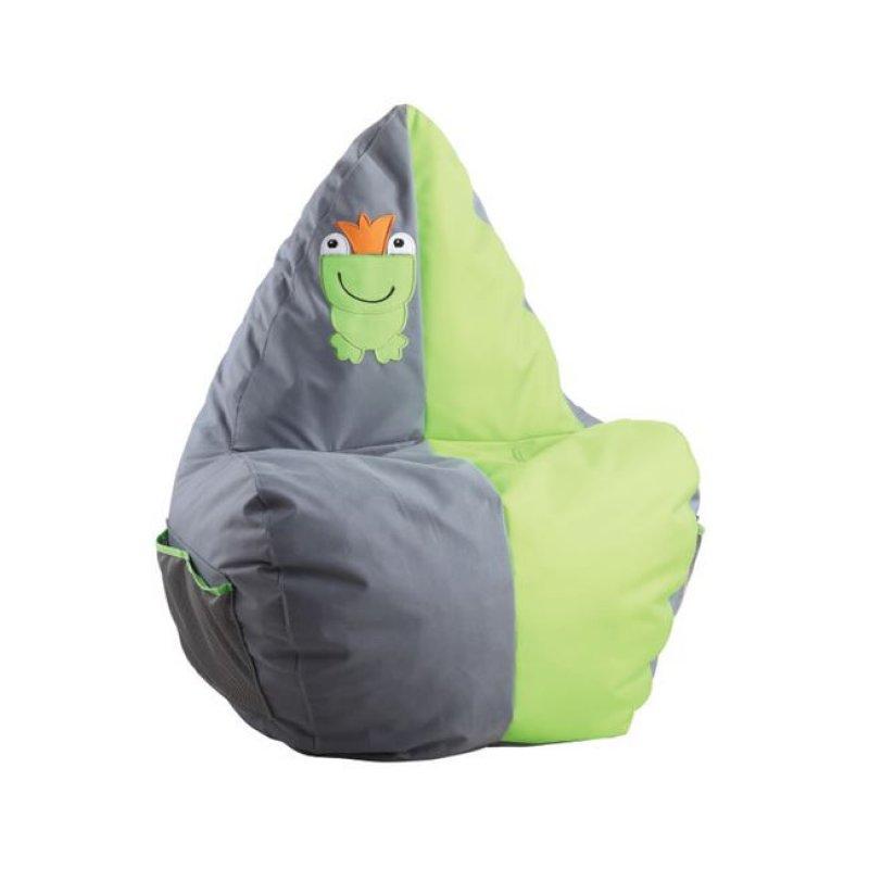 """Πολυθρόνα παιδικό πουφ """"ASTRO"""" υφασμάτινο σε χρώμα σε γκρι-λαχανί 46x53x90"""