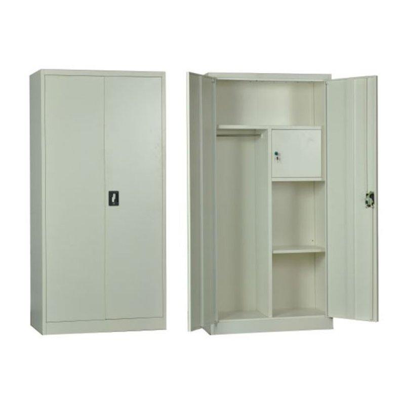 """Ντουλάπα """"LOCKER"""" μεταλλική με εσωτερικό ντουλάπι, σε λευκό χρώμα 90x45x185"""