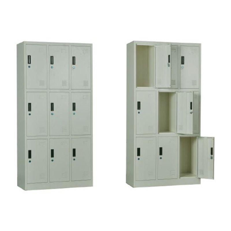 """Ντουλάπα """"LOCKER"""" μεταλλική 9-θέσεις, σε λευκό χρώμα 90x40x185"""