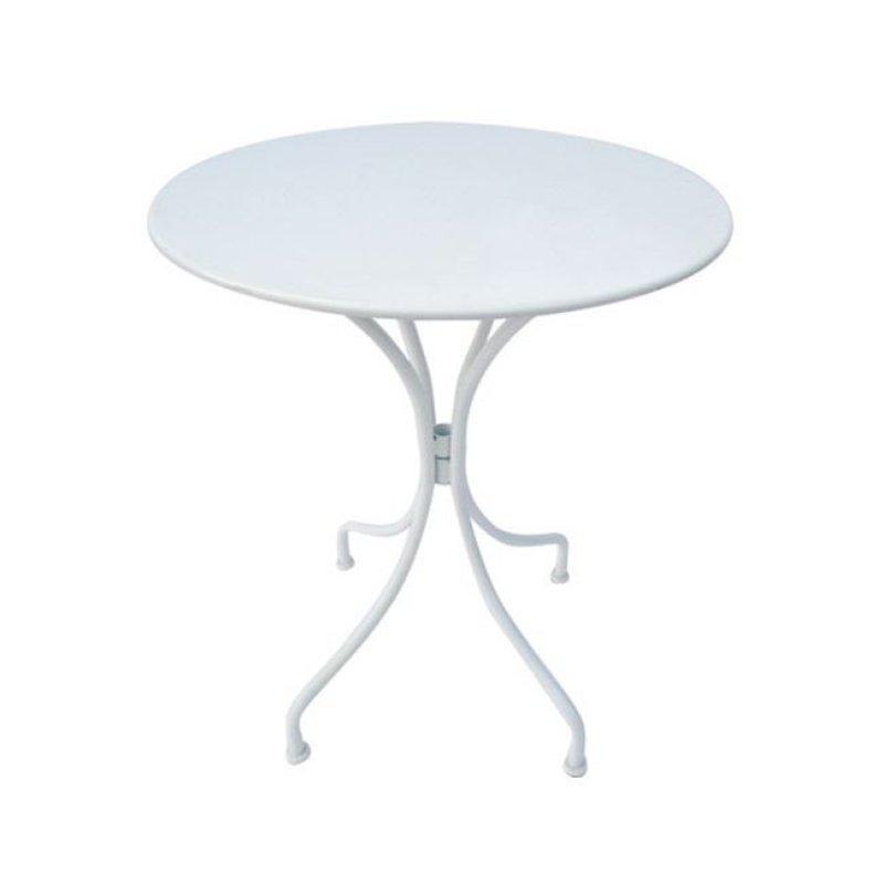 """Τραπέζι """"PARK"""" μεταλλικό σε χρώμα λευκό 60x70"""