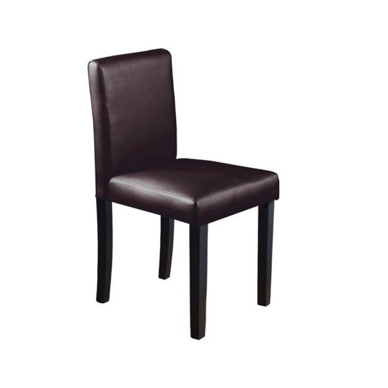 """Καρέκλα """"MALEVA-L"""" ξύλινη-pvc σε χρώμα σκούρο καφέ 44x50x83"""