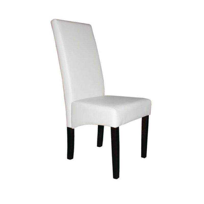 """Καρέκλα """"MALEVA-H"""" ξύλινη-pvc σε χρώμα ivory 48x45x107"""