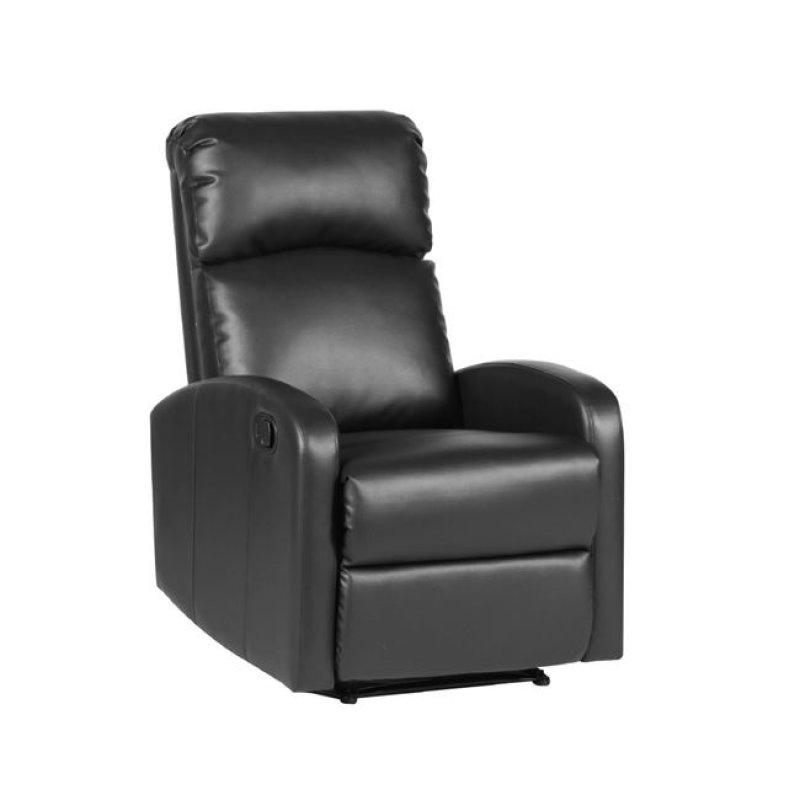"""Πολυθρόνα """"BIZARD"""" relax από τεχνόδερμα σε μαύρο χρώμα 65x89x102"""