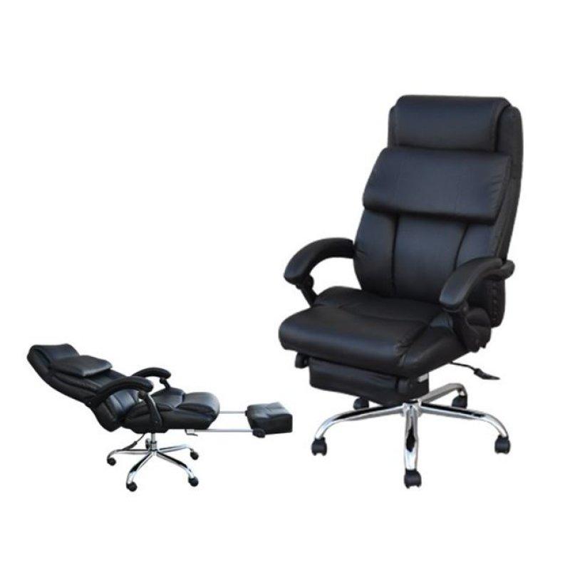 """Πολυθρόνα διευθυντή """"RELAX"""" από τεχνόδερμα σε μαύρο χρώμα  71x74/180x117/123"""
