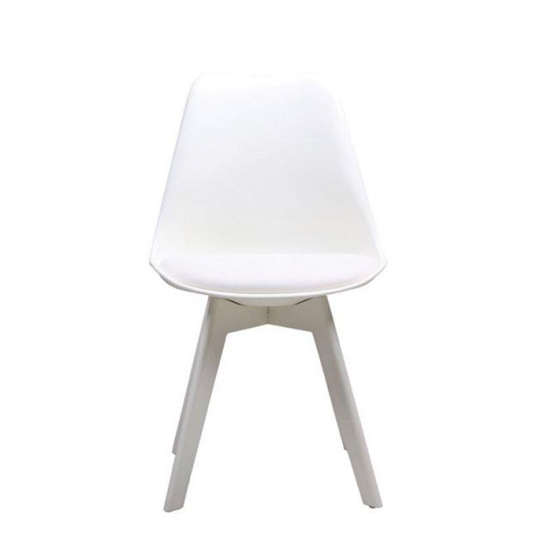 """Καρέκλα """"MARTIN"""" ξύλινη-pp σε χρώμα λευκό 48x50x82"""