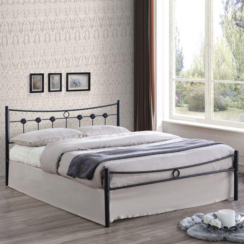 """Κρεβάτι """"DUGAN"""" διπλό μεταλλικό σφυρήλατο μαύρο 156x205x83"""