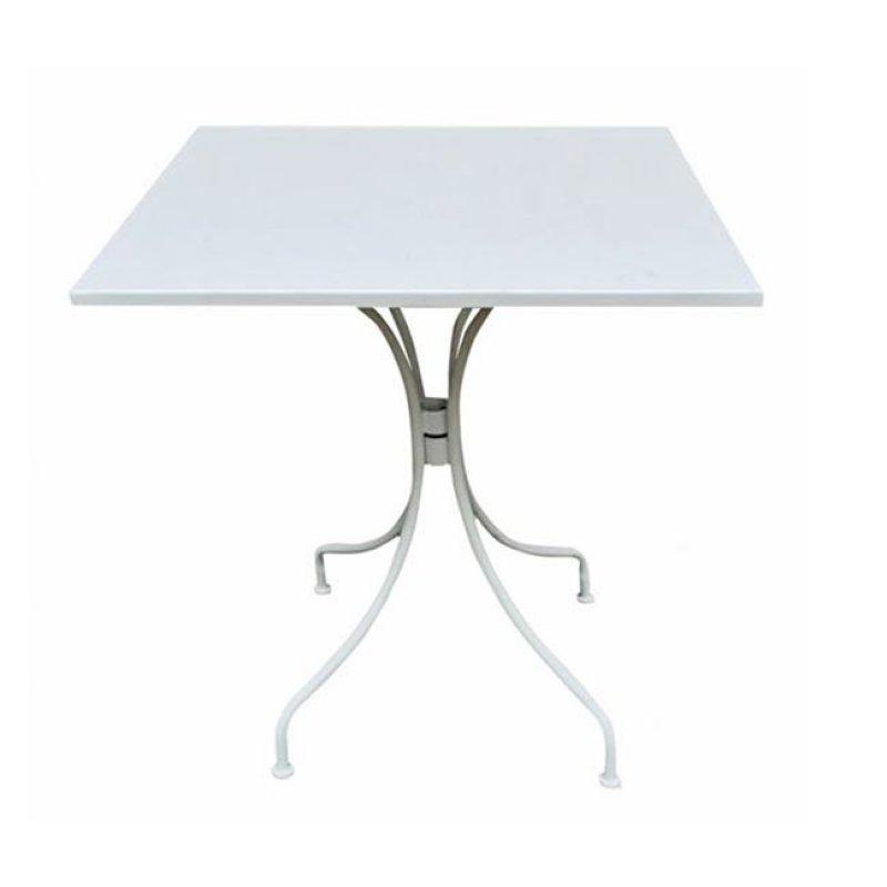 """Τραπέζι """"PARK"""" μεταλλικό σε χρώμα λευκό 70x70x71"""