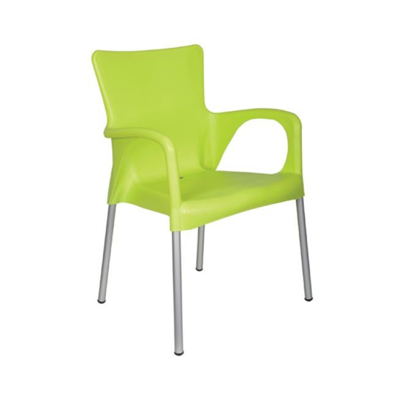 """Πολυθρόνα """"LARA"""" από πολυπροπυλένιο σε lime χρώμα 55x52x85"""