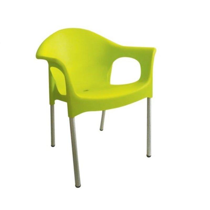 """Πολυθρόνα """"MARY"""" από πολυπροπυλένιο σε lime χρώμα 59x50x76"""