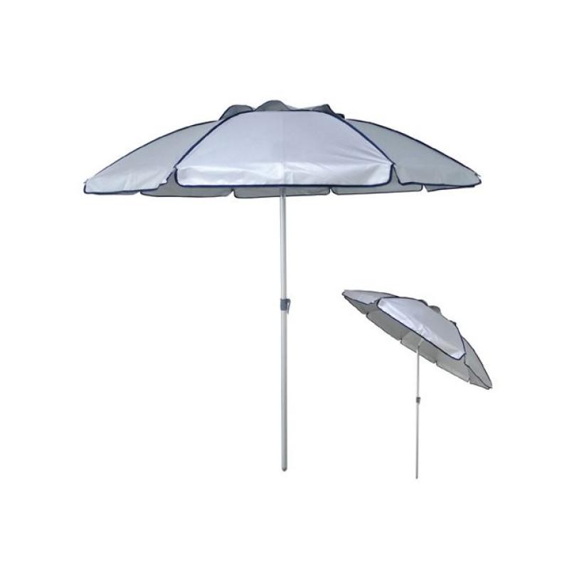 Ομπρέλα παραλίας αλουμινίου σε ασημί χρώμα Φ2