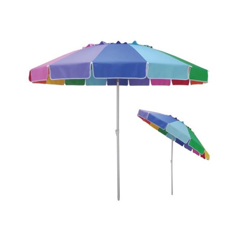 """Ομπρέλα """"GIGA"""" αλουμινίου-υφασμάτινη rainbow 220x220"""