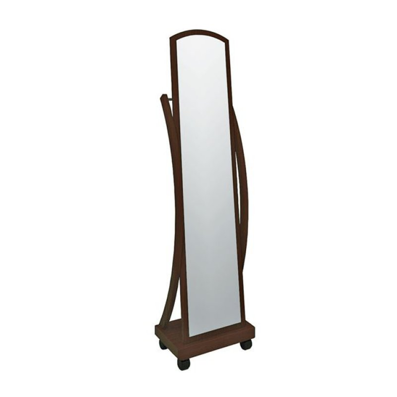"""Καθρέπτης δαπέδου """"ROGER"""" σε καρυδί χρώμα 44x29x165"""