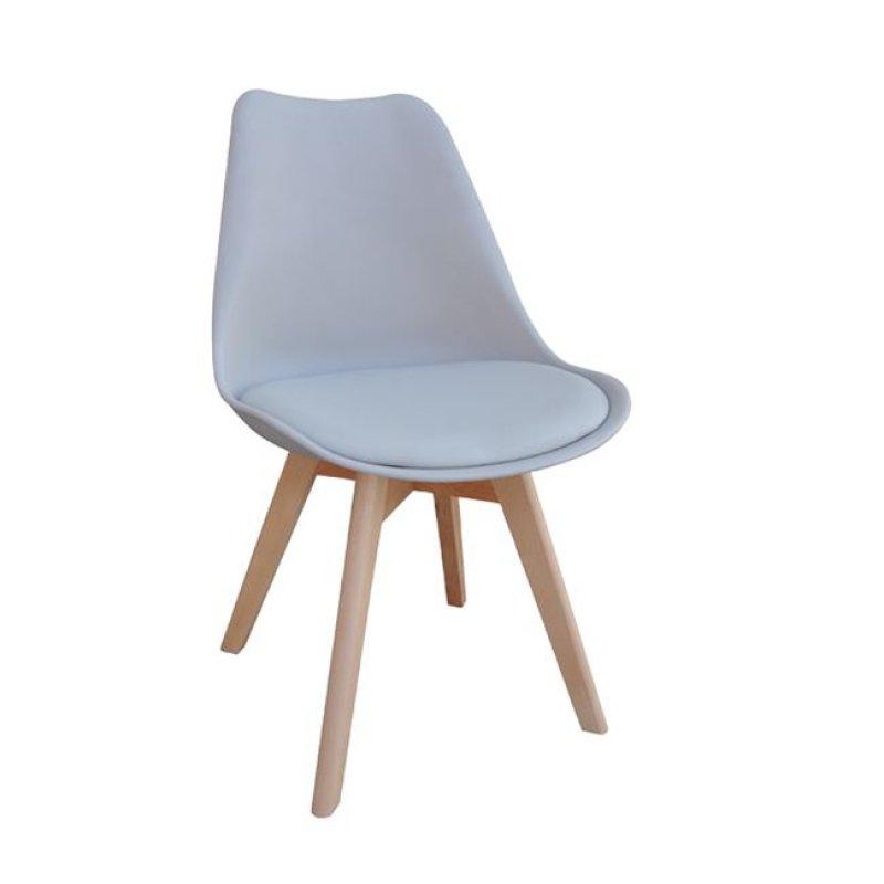 """Καρέκλα """"MARTIN"""" από pp σε γκρι χρώμα 48x50x82"""