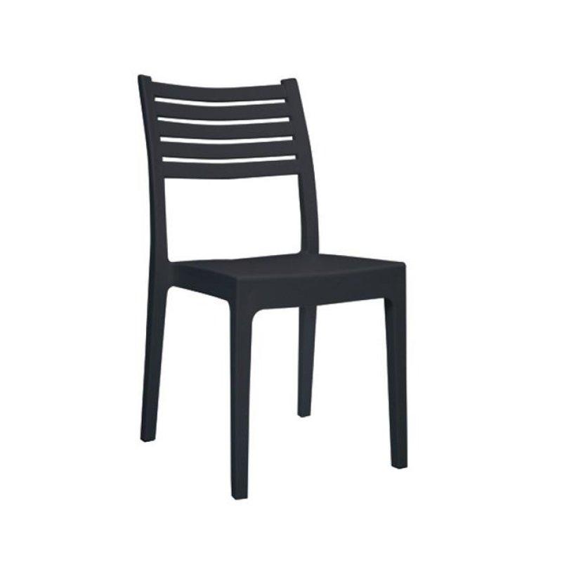 """Καρέκλα """"OLIMPIA"""" από πολυπροπυλένιο σε ανθρακί χρώμα 46x52x86"""