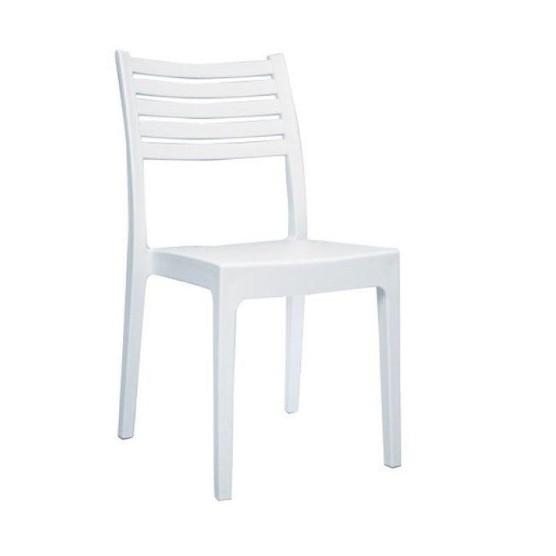 """Καρέκλα """"OLIMPIA"""" από πολύπροπυλένιο σε λευκό χρώμα 46x52x86"""