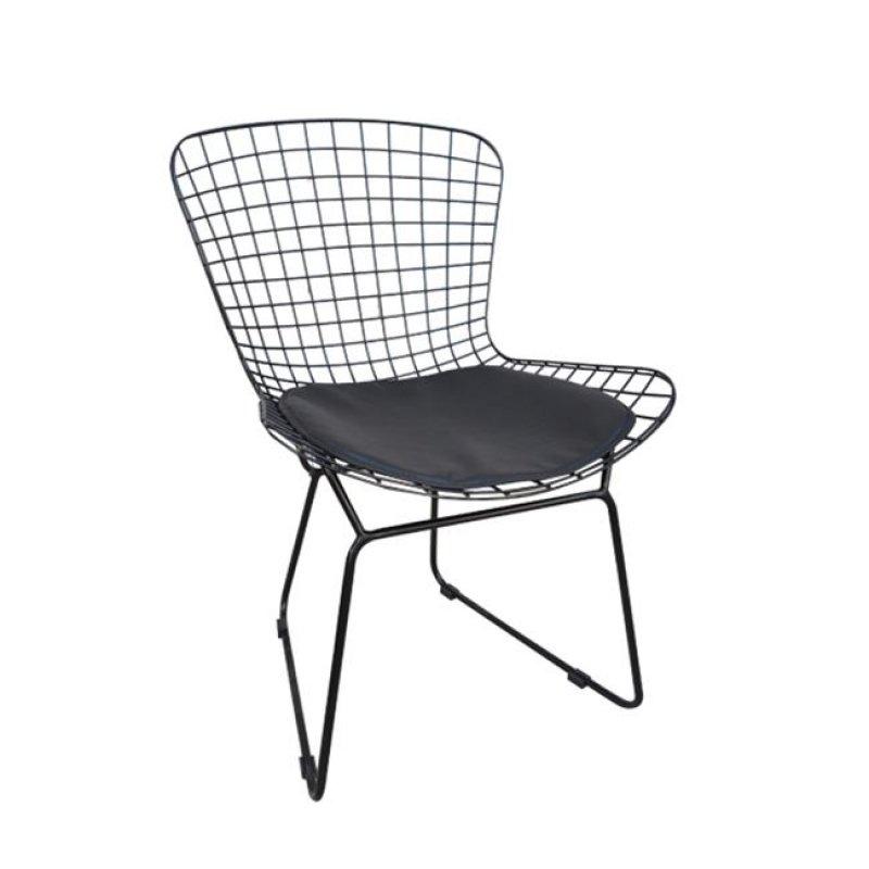 """Καρέκλα """"SAXON"""" μεταλλική με πλέγμα σε μαύρο χρώμα 54x56x83"""