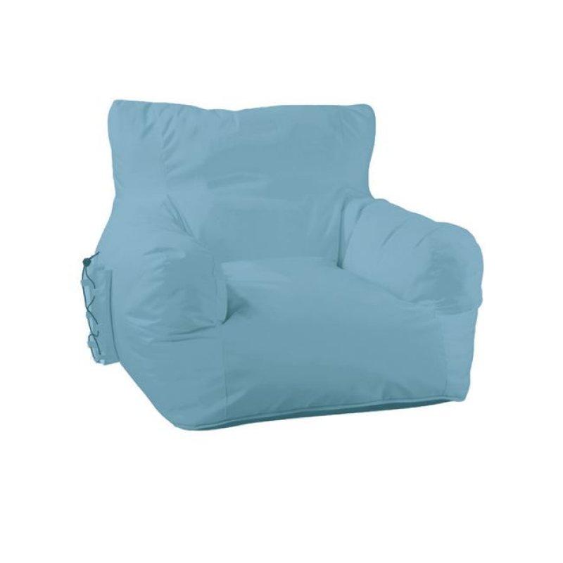 """Πολυθρόνα πουφ """"RIDLEY"""" υφασμάτινη σε γαλάζιο χρώμα 80x70x67"""