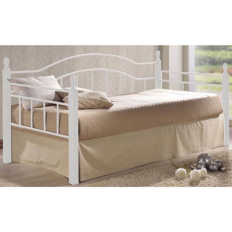 """Κρεβάτι """"VINCENT"""" μονό μεταλλικό σε λευκό χρώμα 98x201x99"""
