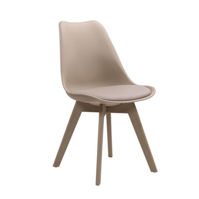 """Καρέκλα """"MARTIN-II"""" pp σε χρώμα μπεζ (tortora) 52x49x82"""