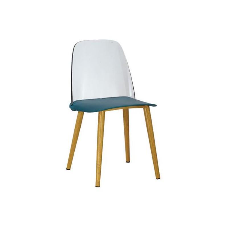 """Καρέκλα """"ERGO"""" μεταλλική-pp σε χρώμα μπλε 47x50x81"""