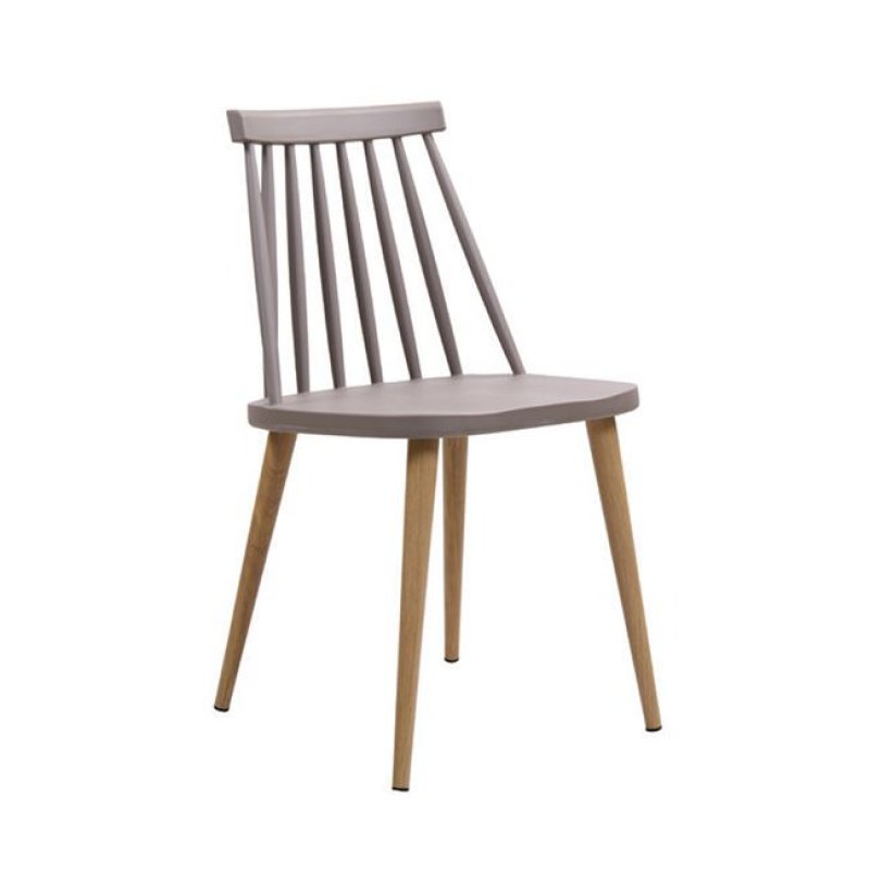 """Καρέκλα """"LAVIDA"""" μεταλλική-pp σε χρώμα sand-beige 43x48x77"""