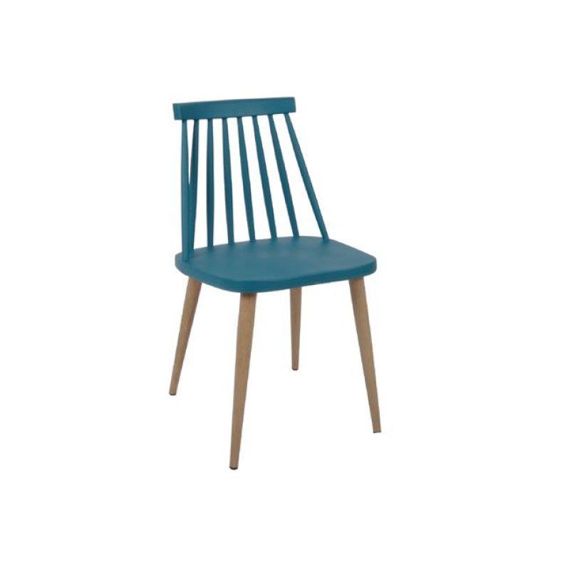 """Καρέκλα """"LAVIDA"""" μεταλλική-pp σε χρώμα μπλε 43x48x77"""