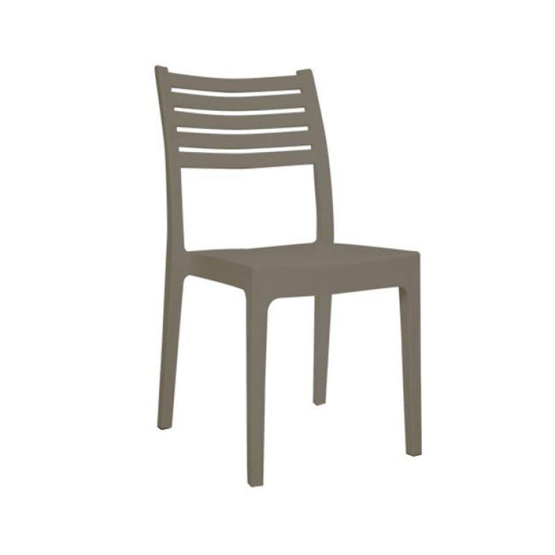 """Καρέκλα """"OLIMPIA"""" από πολυπροπυλένιο σε χρώμα μπεζ 46x52x86"""