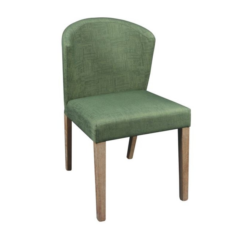 """Καρέκλα """"CABRI"""" ξύλινη-υφασμάτινη σε πράσινο χρώμα 50x63x84"""