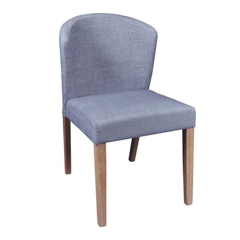 """Καρέκλα """"CABRI"""" ξύλινη-υφασμάτινη σε γκρι χρώμα 50x63x84"""