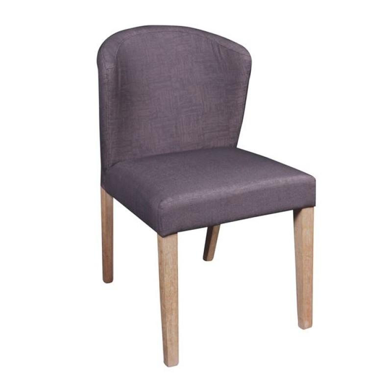 """Καρέκλα """"CABRI"""" ξύλινη-υφασμάτινη σε καφέ χρώμα 50x63x84"""