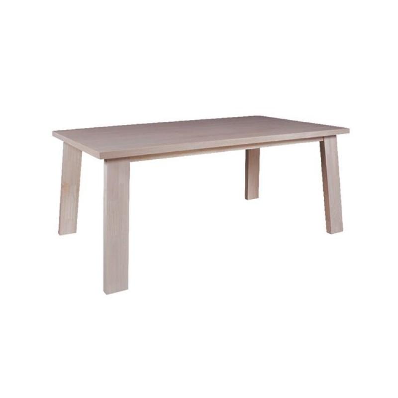 """Τραπέζι """"GIBSON""""  white wash με επιφάνεια σε χρώμα λευκο 180x100x75"""