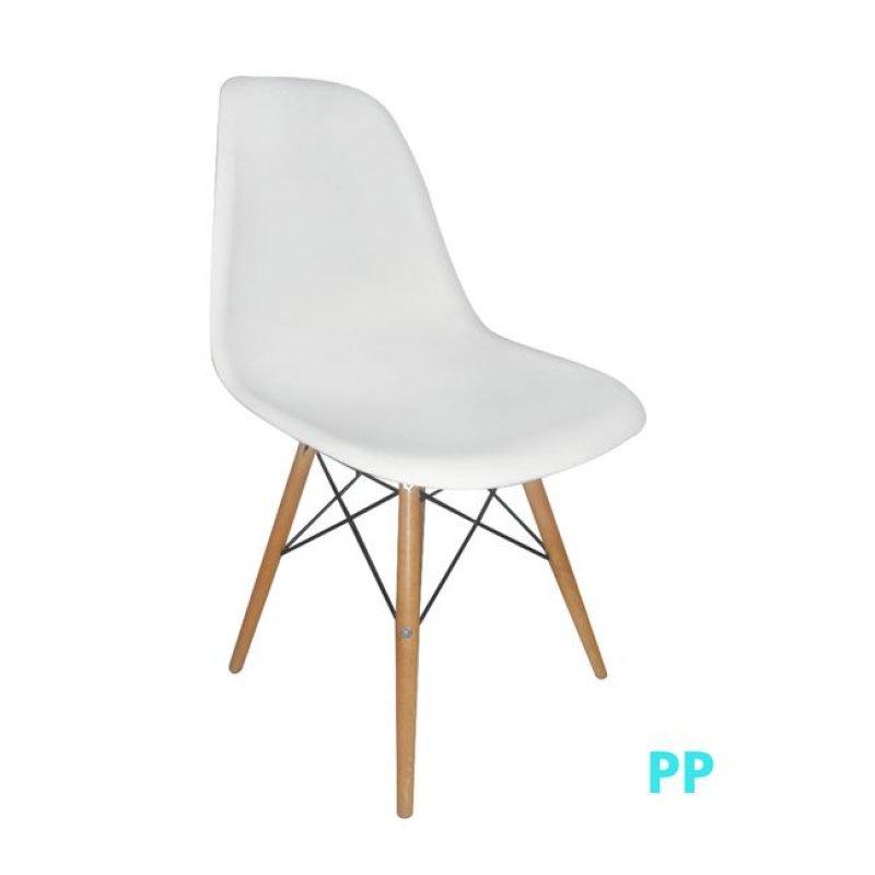 """Καρέκλα """"ART Wood"""" ξύλινη-pp σε χρώμα λευκό 46x53x81"""