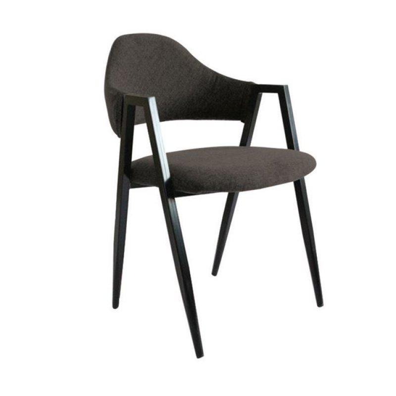 """Πολυθρόνα """"DELTA"""" μεταλλική-υφασμάτινη σε χρώμα σκούρο καφέ 50x55x80"""